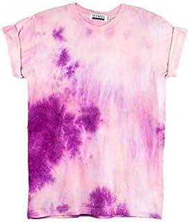 Pink Tie Dye Unisex T-Shirt Pattern Shirt short Sleeve Plus Size S, M, L, XL, XXL, XXXL