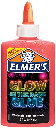 Elmers Glow In The Dark Liquid Glue 5oz-Pink