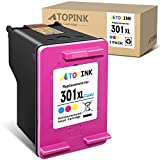ATOPINK - Cartucho de tinta remanufacturado de repuesto para HP 301, 301XL, para HP DeskJet 2050, 2540, 3050, 1510, Envy 4500, 5530, 5532, Officejet 2620, 2622, 4630, 4636, (1 unidad color)
