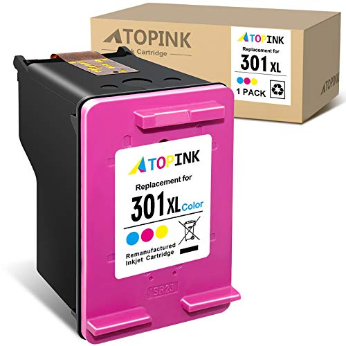 ATOPINK - Cartuccia rigenerata di ricambio per HP 301 301XL per HP DeskJet 2050 2540 3050 1510 Envy 4500 5530 5532 Officejet 2620 2622 4630 4636 (1xColore)