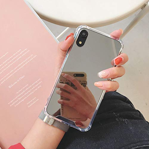MURMAZ iPhone XR case[6.1 inch] (2018), Stylish Mirror case with [Reinforced Corner] [Hard Back+Soft Rubber Bumper] [Shockproof] for Girls Woman Makeup Touch up and Back Camera Selfies (Mirror XR)