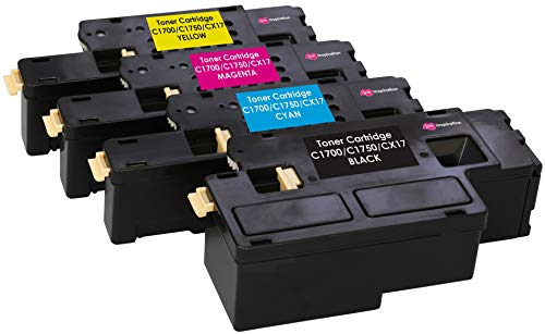 4 Tóners compatibles para Epson AcuLaser C1750N C1750W CX17NF CX17WF C1700 C1750 CX17   Negro: 2000 páginas & Cian/Magenta/Amarillo: 1400 páginas ✅