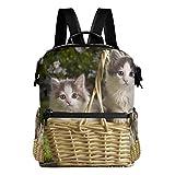 Rucksack Rucksack Korb Cute Cat Travel Daycare Perfekt für die Schule für Teen Boys Girls