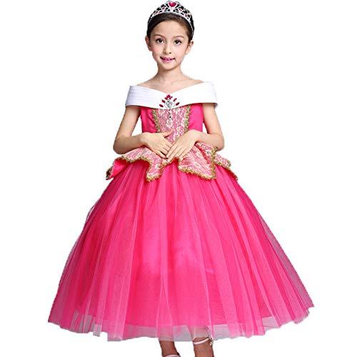 (フォーペンド)Forpend ドレス 子供 オーロラ姫風 コスプレ 衣装 プリンセンス 100 110 120 130cm ハロウィン クリスマス 発表会MX24 (130cm)