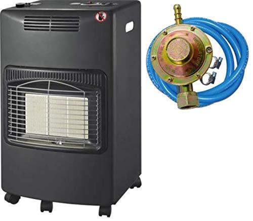 Stufa gas infrarossi ventilata 4,2 Kw + Termoventilatore Domus Kali sensore O2 REGOLATORE TUBO...