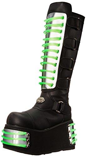 Demonia Techno-854UV - UV-reaktive Gothic Industrial Cyber Mega Plateau Stiefel Schuhe 36-45, US-Herren:EU-37 (US-M5)
