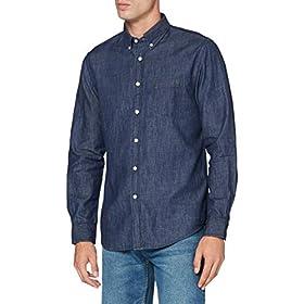 Cortefiel Denim Basico Indigo Camisa Casual para Hombre