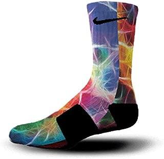 Custom Nike Elite Socks KD LeBron Kobe All Sizes HoopSwagg NEURON MAGIC