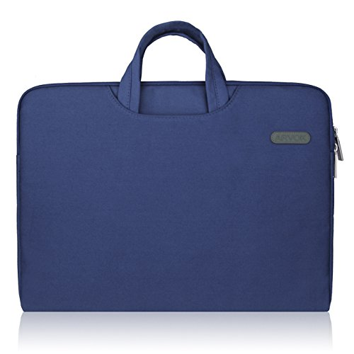 Arvok 15 15.6 16 Inch Water-resistant Canvas Fabric Laptop Sleeve With Handle&Zipper Pocket/Notebook Computer Case/Ultrabook Briefcase Carrying Bag/Pouch Cover For Acer/Asus/Dell/Lenovo/HP,Denim Blue