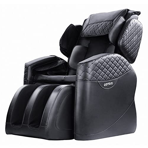 OOTORI Zero Gravity Massage Chair,Full Body Air Shaitsu Recliner with Lower-Back Heating and Foot Roller and Seat Vibration(Black)