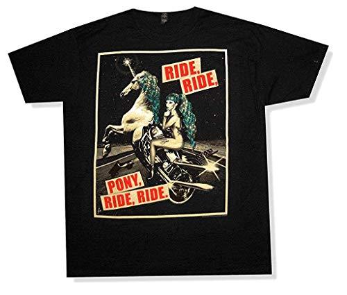 GSBTX® Lady Gaga Pony Ride 2013 Cancelled Tour Black T Shirt