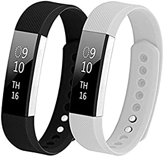 Hanlesi for Fitbit Alta HR Band, Fitbit Alta Band Breathable Soft Silicone Adjustable Fashion Sport Strap Band for Fitbit Alta 2 Fitness Accessory Wristband with Hole