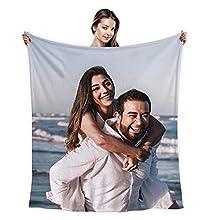 Manta sofá Personalizada/Franela Mantas con Fotos Personalizadas /Cama Personalizada Mantas /San Valentín día de la Madre Cumpleaños Regalo 100X150cm