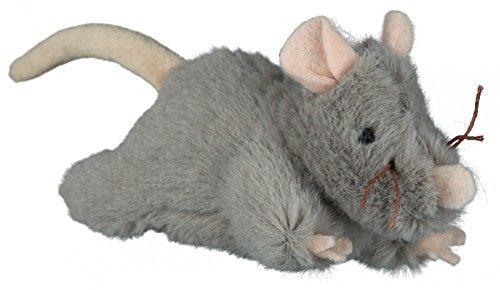 TRIXIE Plüsch Maus mit Sound für Katzen, 15cm
