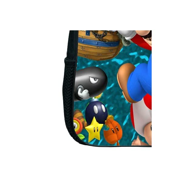 MIAOGOU Bolso de Mario Mochilas de 12 Pulgadas Super Mario Smash Bros, Mochila de jardín de Infantes, Mochila Escolar…