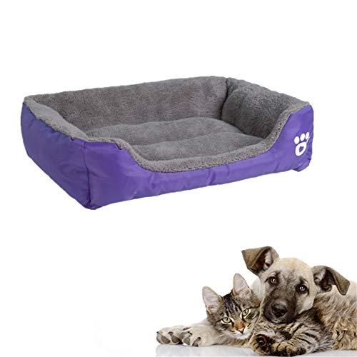 BOENTA Katzennest Katzenbett Hundebett Grosse Hunde Luxus Hundebett Kleines Katzenbett Plüsch Hundebett Flauschiges Hundebett Haustierbetten Für Katzen Hund Schlafsofa Purple,Small