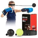 OOTO Pallina Boxe Palla da Boxe Reflex Palla da Boxe con 2 Livelli di difficoltà con Fascia per Capelli, Allenamento Boxe Adatta per Reazione, velocità di Pugno Reflex Ball Boxe, Fight Ball Boxing