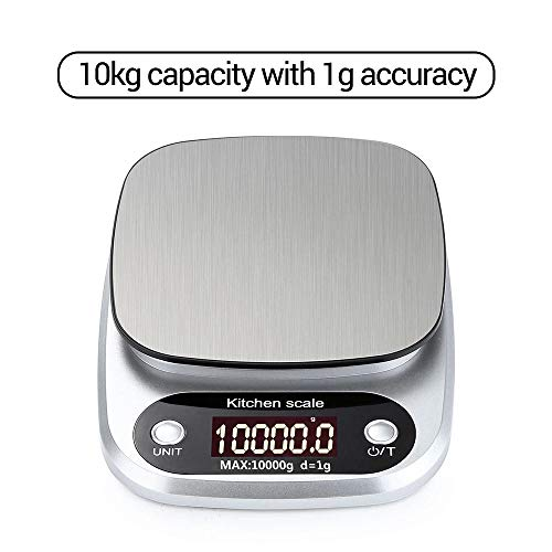 10kg * 1g draagbare digitale weegschaal Mini digitale keukenweegschaal Professionele nauwkeurige elektronische weegschaal Precisieweegschaal 10kg 1g