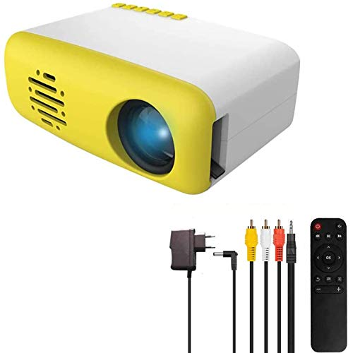 3T6B Mini-Projektor für Kinder, tragbar, Heimkino, TFT LED, LCD, kompatibel mit HDMI / AV / USB / Micro SD / TV Stick, Heimunterhaltung