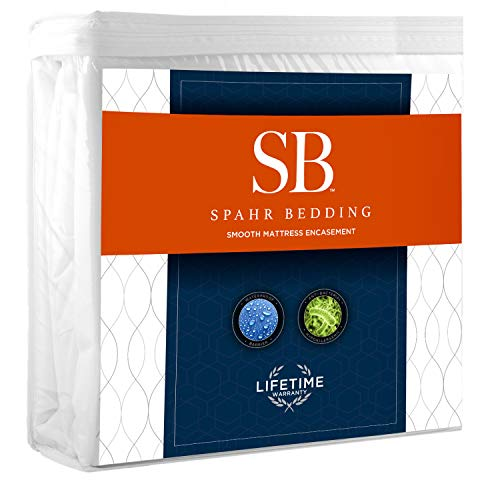 Spahr Bedding 6 Sided Mattress Cover - Zippered Encasement Mattress Protector- 100% Waterproof, Hypoallergenic, Breathable Protection - King Size