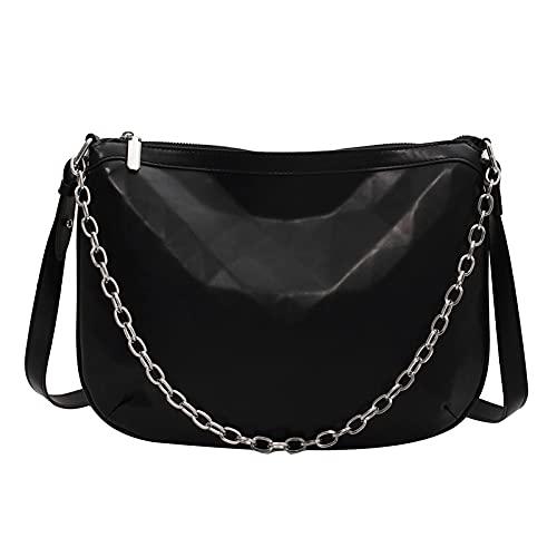 QIANJINGCQ Moda todo-fósforo personalidad patrón de diamantes bolso de gran capacidad cadena bandolera bolso de mano con patrón geométrico bolso de hombro para dama