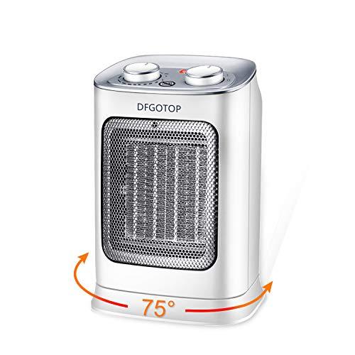 DFGOTOP Mini Calefactor Eléctrico Cerámico Baño, Calefacción Eléctrica Silenciosa Bajo Consumo, Portátil Calefactores...