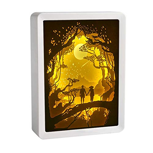 Light Shadow Paper Carved Lights Diy Creative Remote Control Small Night