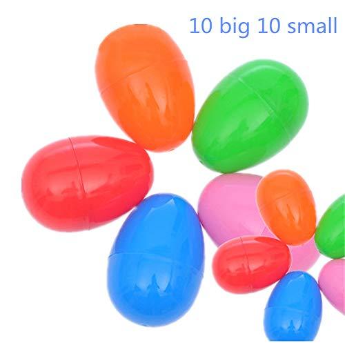 Uova di Pasqua, Chickwin Piene di Giocattoli Riempite Uova Plastica Pasqua per Caccia alle Sorpresa per Bambini Forniture per Feste