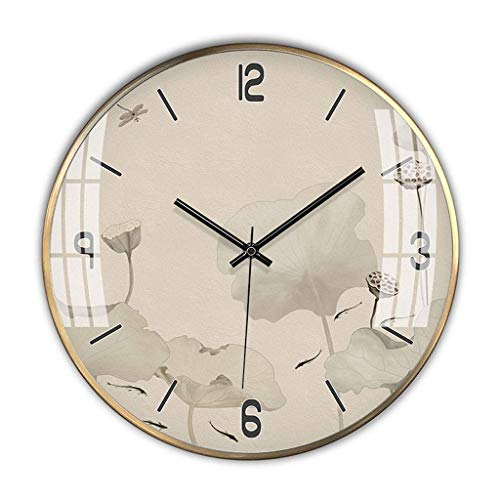 ZTMN Reloj de Pared Digital/Relojes de Pared Reloj de Pared de Metal Simple Estilo Chino Sala de Estar Reloj silencioso Reloj de Bolsillo Reloj de Pared Decorativo para el hogar/Oficina/Escuela (Colo