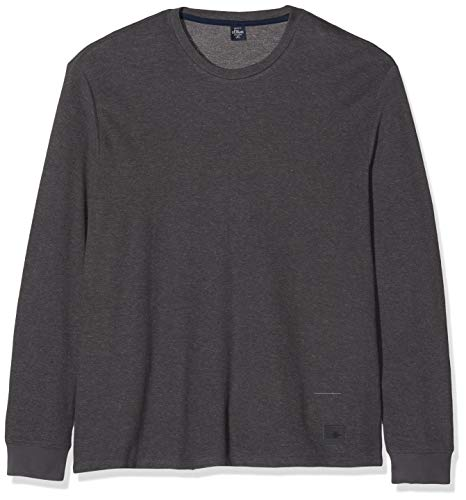 s.Oliver Big Size Herren 15.910.31.6936 Langarmshirt, Grau (Dark Metal 9642), XXXXX-Large (Herstellergröße: 5XL)