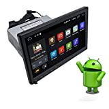 YODY 10.1 Inch Single Din Android 10.0 Car Stereo Support Bluetooth WiFi GPS Navigation Mirror Link AM/FM/RDS OBD2 Touch Screen Car Radio Player Free Backup Camera and Microphone