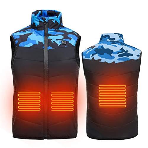 Chaleco calefactable para niños Chaleco calefactado eléctricamente Ropa calefactada Temperatura Ajustable para...