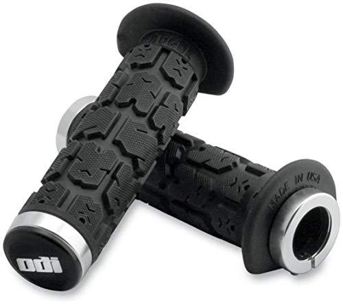 ODI ROGUE LOCK-ON GRIPS 120MM BLACK/SILVER ATV