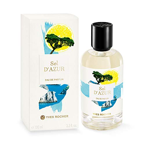 Yves Rocher LA COLLECTION Eau de Parfum Sel d'Azur, erfrischendes Parfum mit Zedernholz & Grapefruit, 1 x Zerstäuber 100 ml