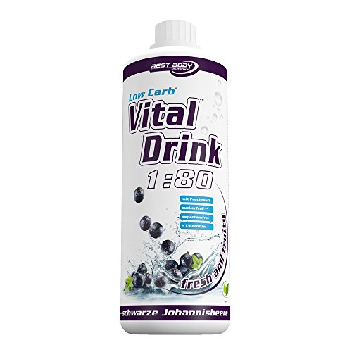 Best Body Nutrition - Low Carb Vital Drink - schwarze Johannisbeere (1000ml Flasche)