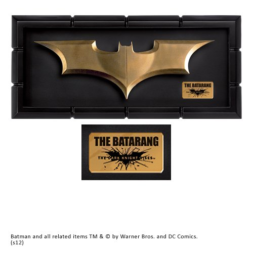 The Noble Collection Batman der dunkle Ritter steigt Film Batarang Prop Replica