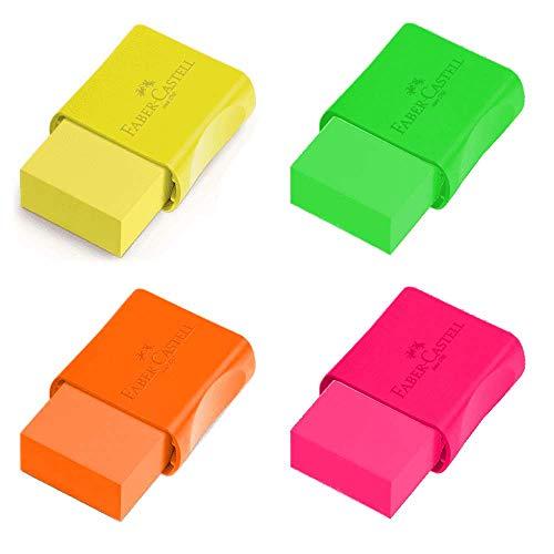 Borracha Escolar TK Neon Cinta Plástica Pequena Faber-Castell
