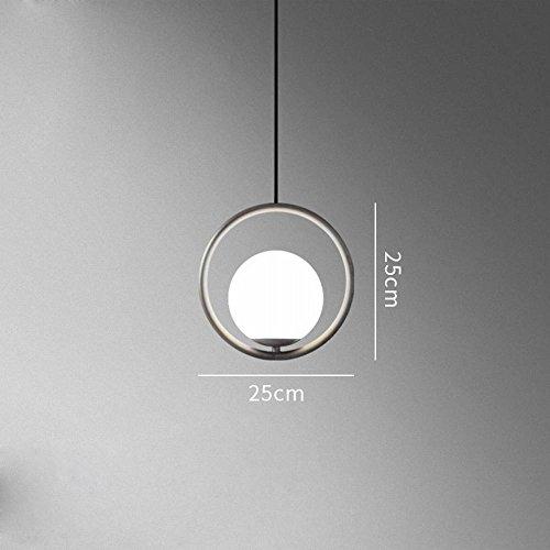 YLXB Scandinavische persoonlijkheid creatieve koffie bar ovaal nachtkastje glazen bol glanzend A 25 cm