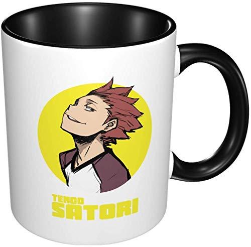 Bernice Winifred Anime 3d Patrón Satori Tendo Haikyuu Tazas de café de cerámica-Negro