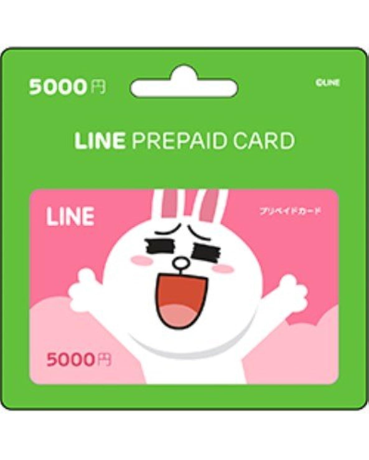 欠如伴う自分のLINE プリペイドカード 5000