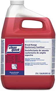 Clean Quick Clean Quick Broad Range Quaternary Sanitizer w/Test Strips, Sweet Scent, 1gal - Includes three per case.