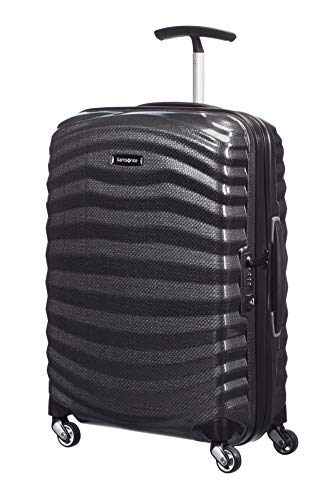 Samsonite Lite-Shock - Spinner S Hand Luggage, 55 cm, 36 Litre, Black (Black)