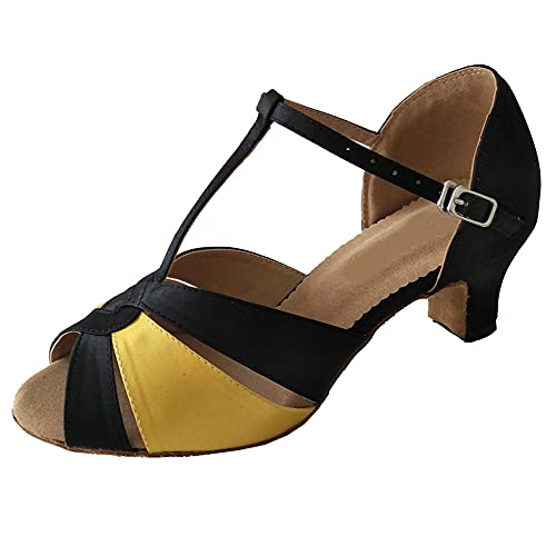 Zapatos de danza latina para mujer, 5,5 cm de grosor, tacón en...