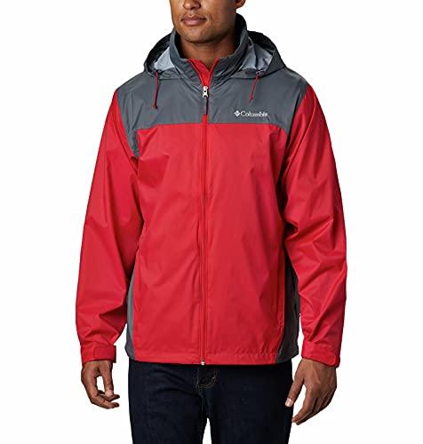 Columbia Men's Glennaker Lake Front-Zip Jacket, Mountain Red/Graphite, Large