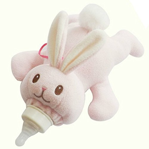 Lovely Animal Infant Baby Bottle Cover Feeder Bottle Keep Warm Holder, Rabbit