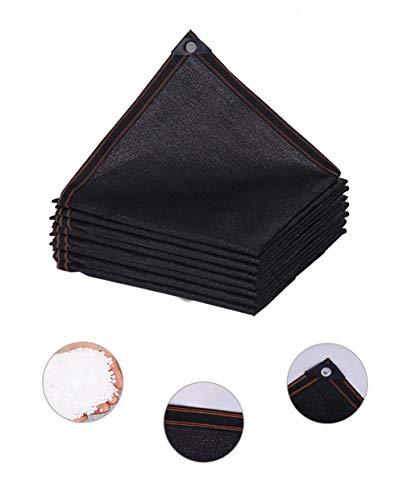 Shade Verrekening 95% Sunblock schaduwdoek - Black Bulk UV-bestendig Fabric Mesh Tarp for Greenhouse Plant Shade Net Vastgebonden Edge 2m3m4m5m6m8m10m12m breed, Meerdere Maten