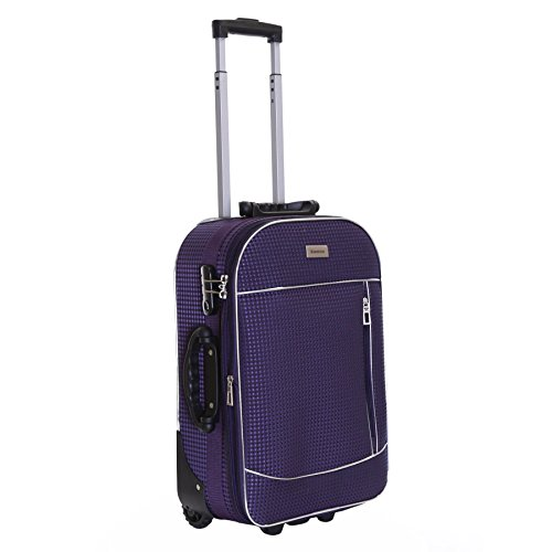 Slimbridge Cabin Hand Luggage Carry-on Suitcase Bag Expandable and Lightweight 55 cm 2.5 kg 35 litres 2 Wheels with Integrated Number Lock, Rennes Purple