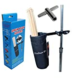 Vizcaya Drum Stick Holder Drum Stick Bag with Drum Key(Black)
