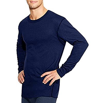Duofold by Champion by Thermals Men's Long-Sleeve Base-Layer Shirt_Navy_M