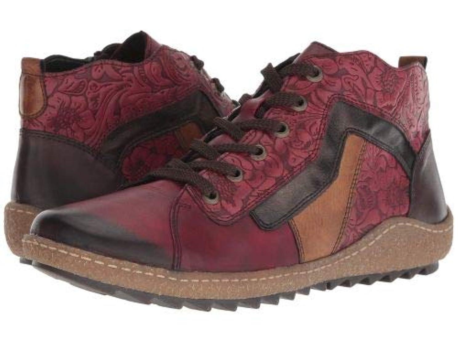 指令洗練された爆発Rieker(リーカー) レディース 女性用 シューズ 靴 ブーツ レースアップブーツ R4777 Liv 77 - Vino/Wine/Antik/Chestnut/Havanna [並行輸入品]